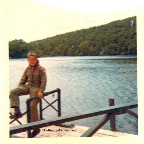 Future author Anthony Buccino at Camp Mohican near Blairstown, N.J.