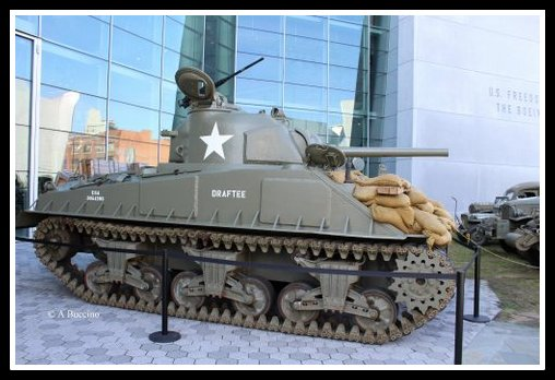 WWII Sherman tank, Draftee, at the National WWII Museum