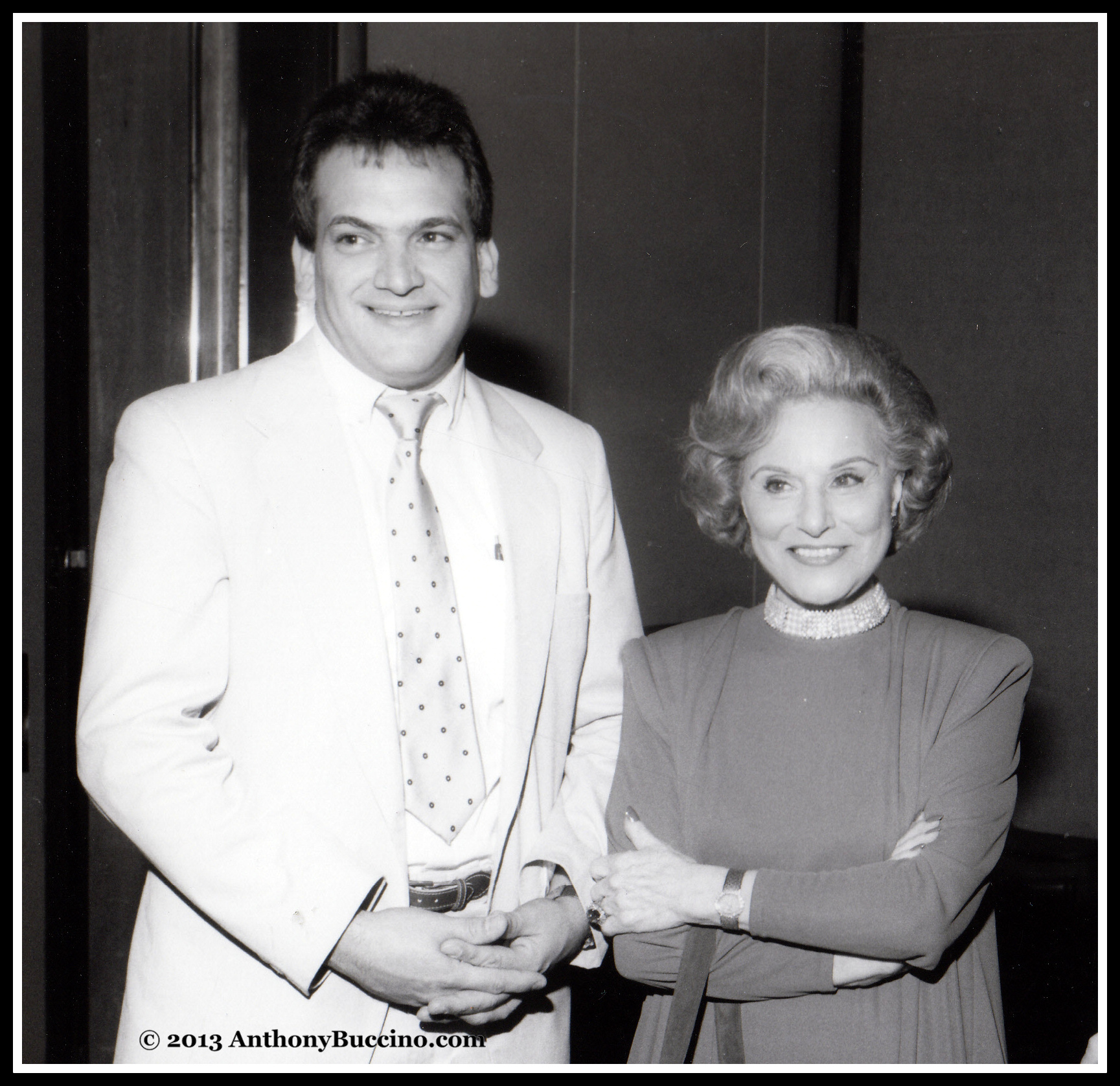 Anthony Buccino and Dear Abby in a BBSI file photograph.