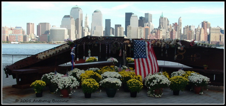 Jersey City 911 Memorial, by Anthony Buccino  2005