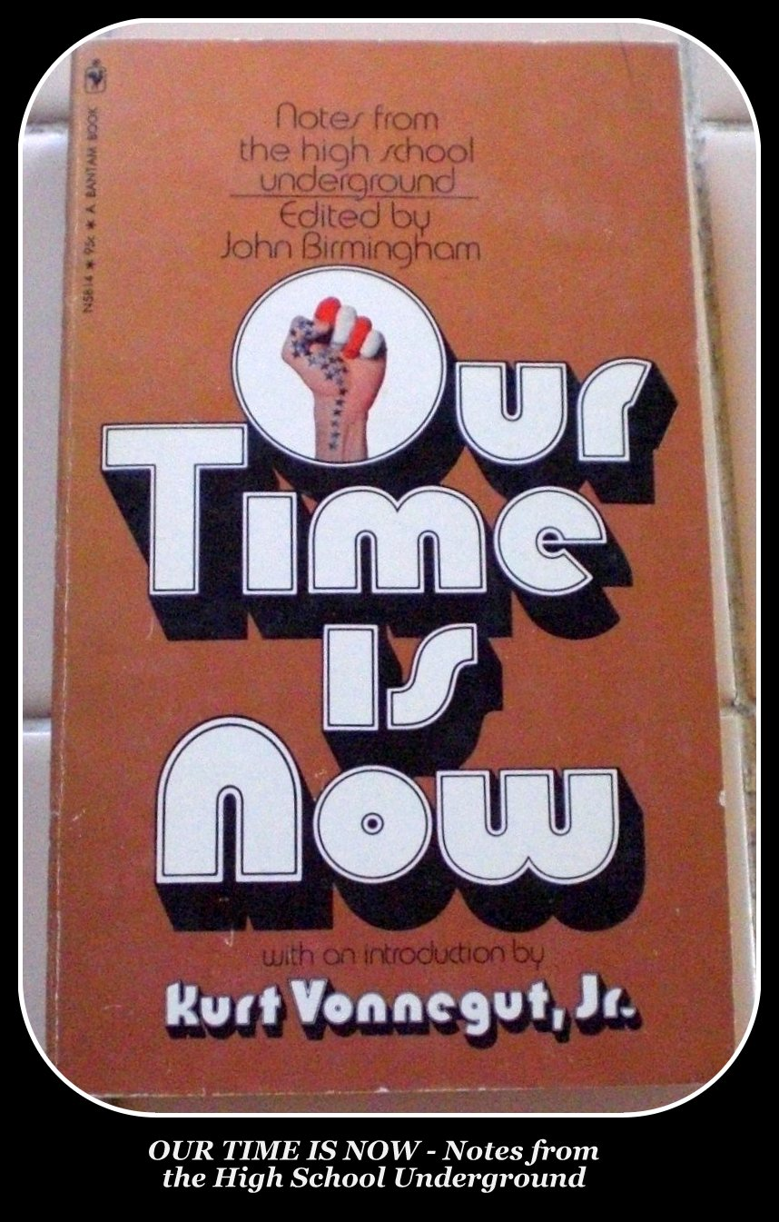 OUR TIME IS NOW - Notes from the High School Underground Paperback – Amazon pic
