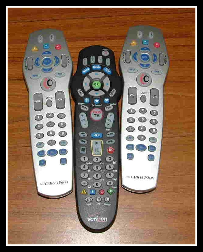 Cablevision or FiOS remotes