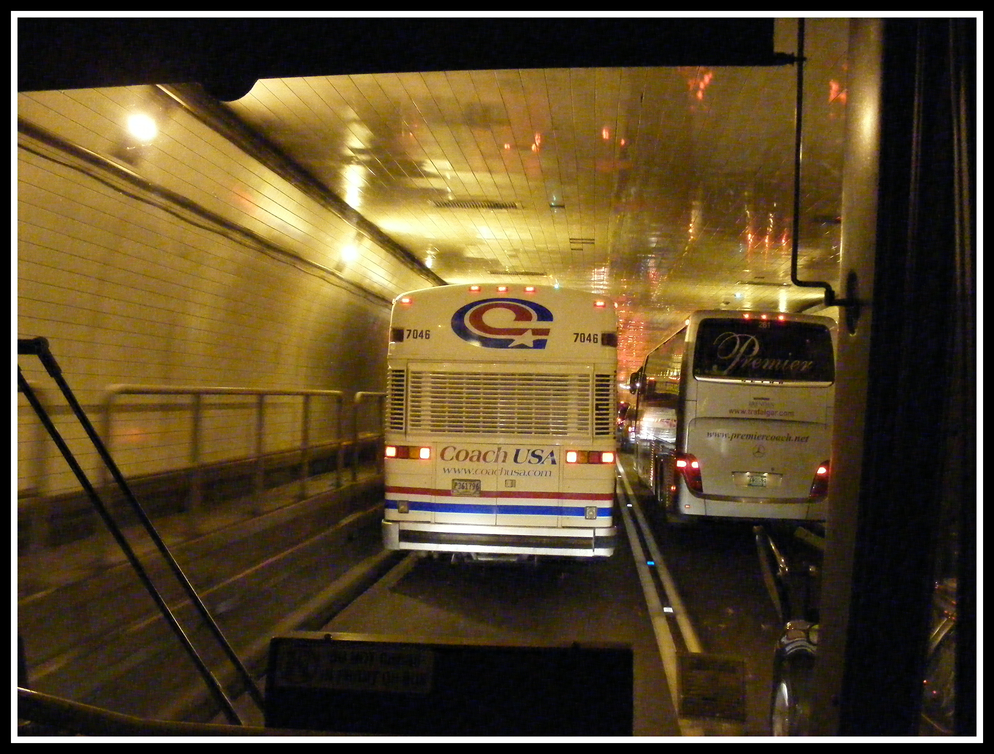 Inside the Lincoln Tunnel - photo by Anthony Buccino